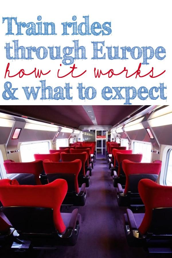 train rides through Europe