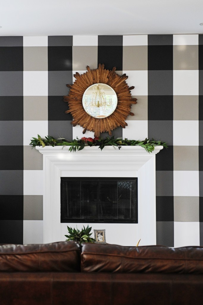 buffalo plaid black and white