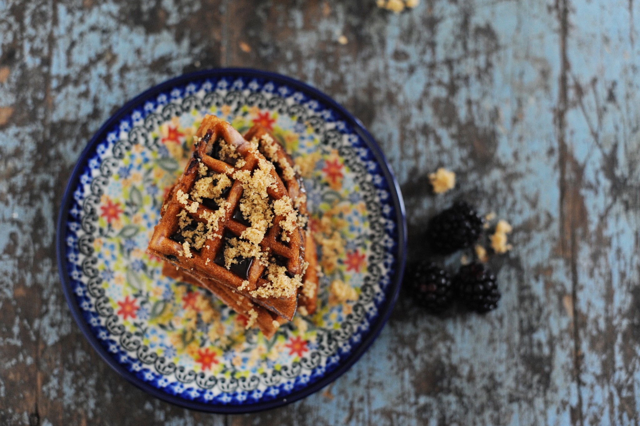 Delicious Blueberry Buckle Waffle Recipe