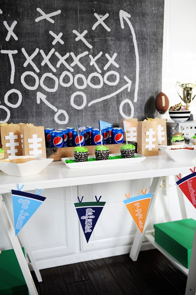 football party pennants 1