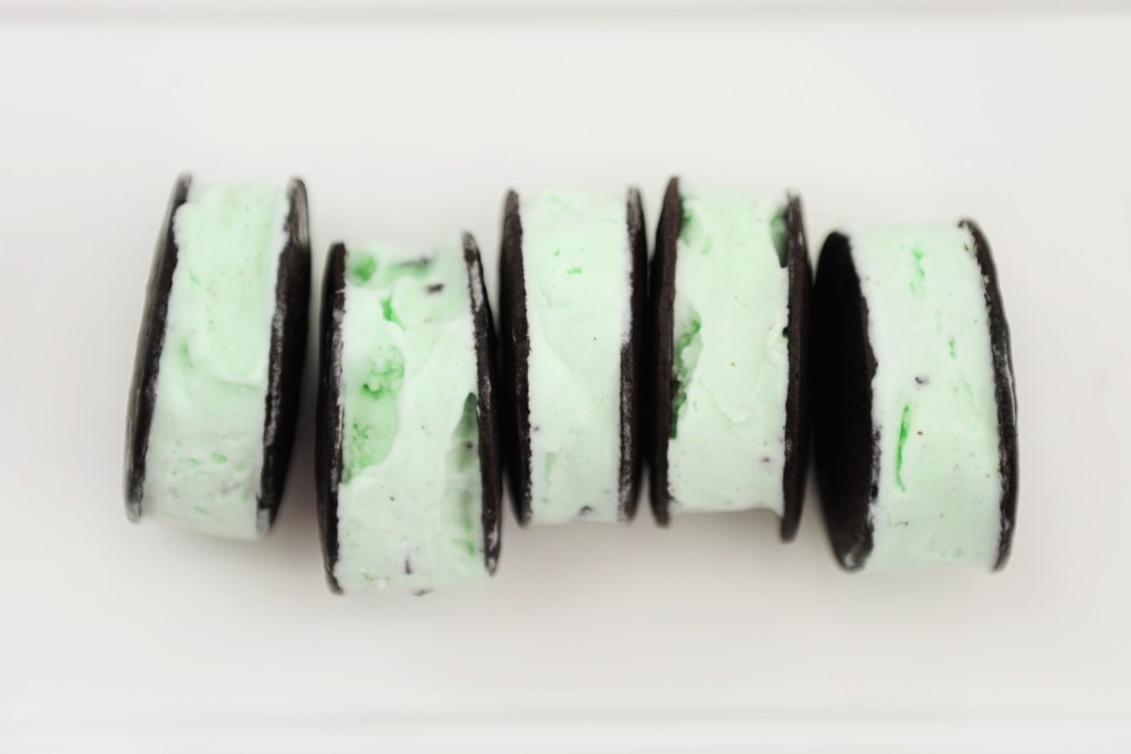thin mint ice cream sandwiches