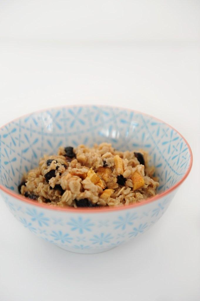 cherry apple cobbler oatmeal