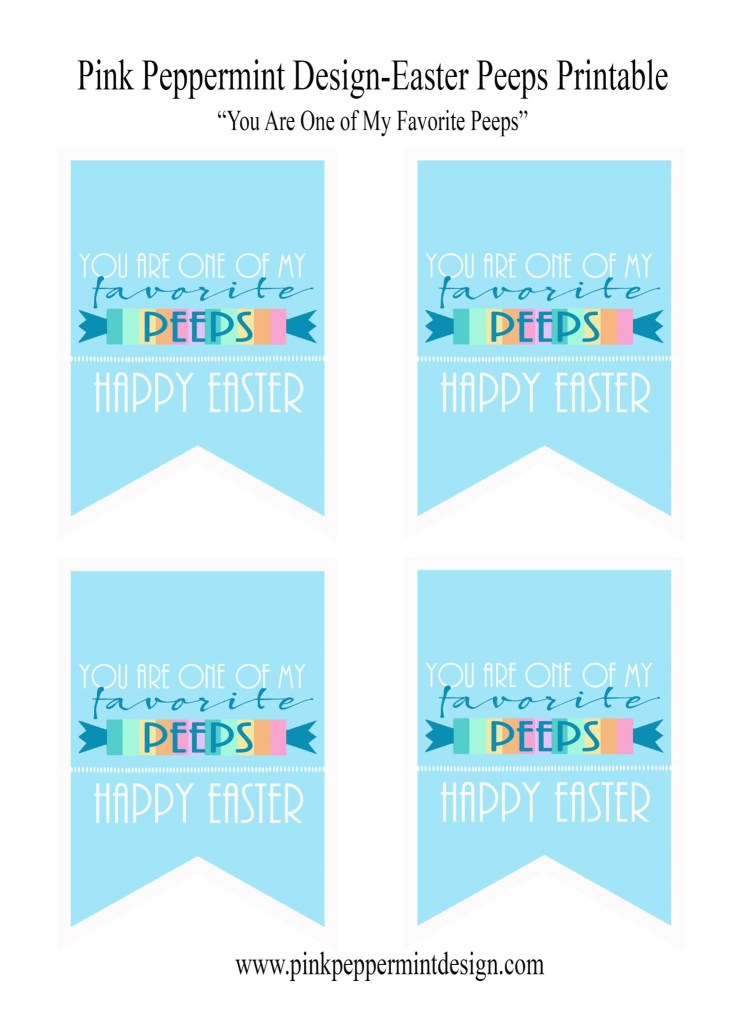easter peeps favor and free printable