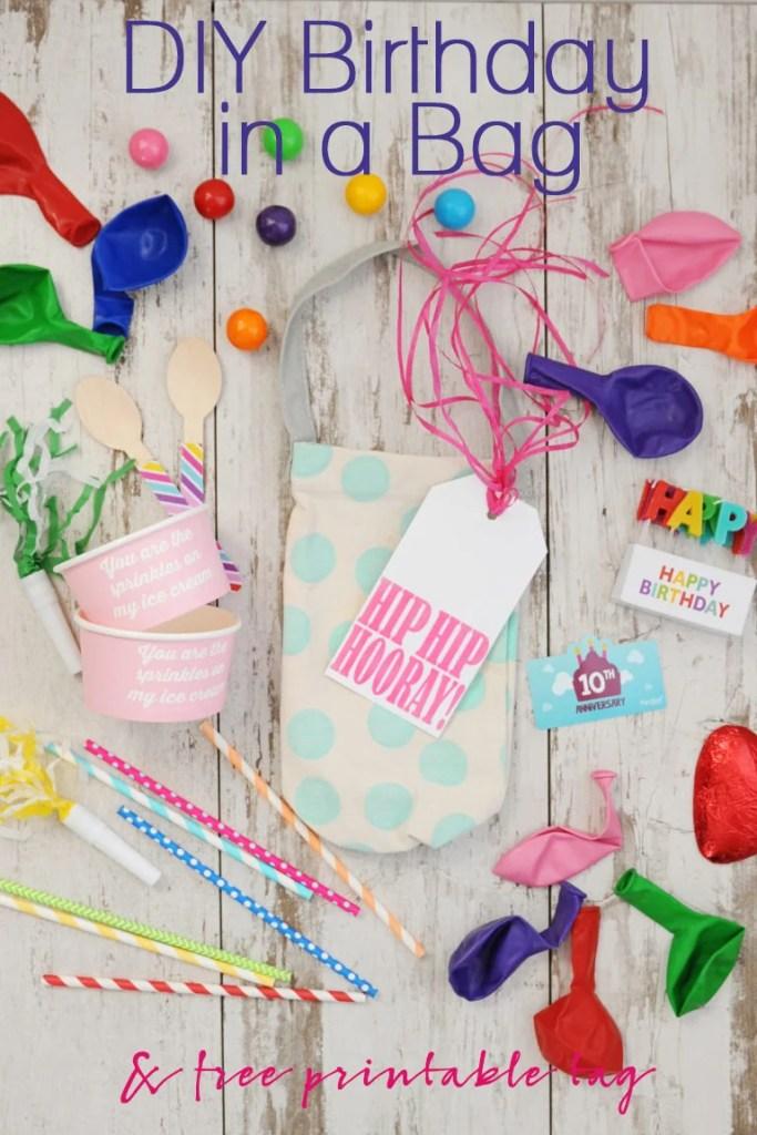 DIY Birthday in a bag