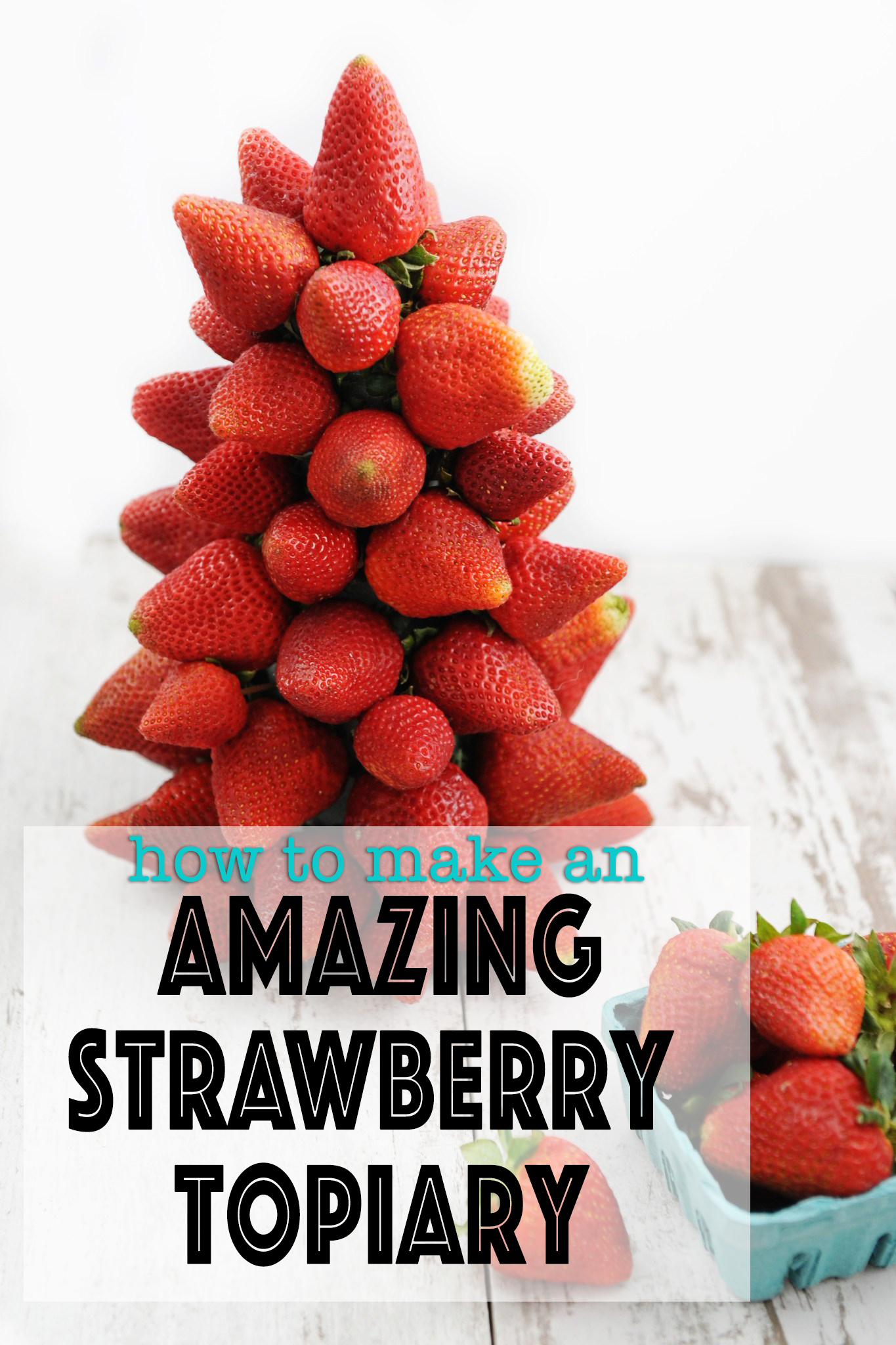 How to Make Fruit Decorations : An Easy Strawberry Topiary - Pink