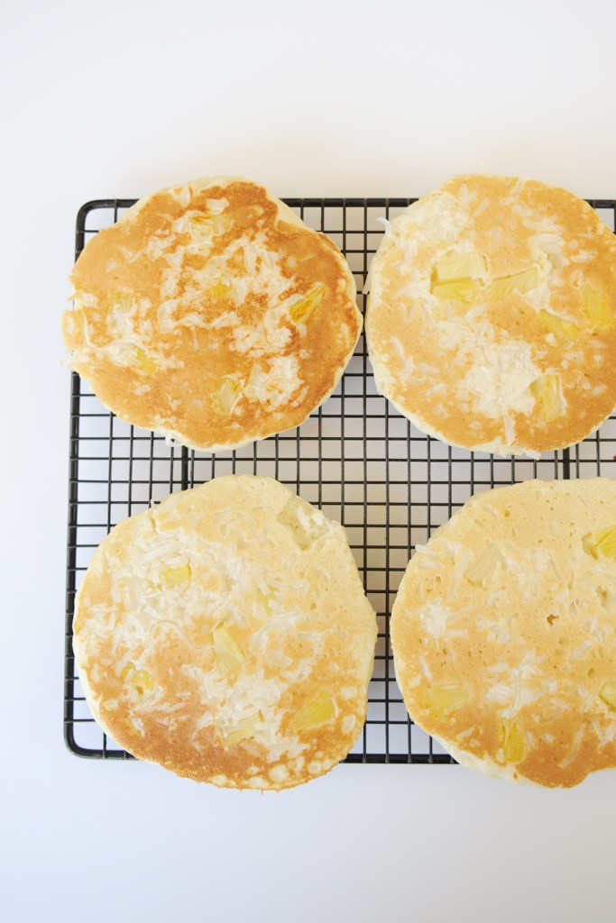 coconut pineapple pancakes