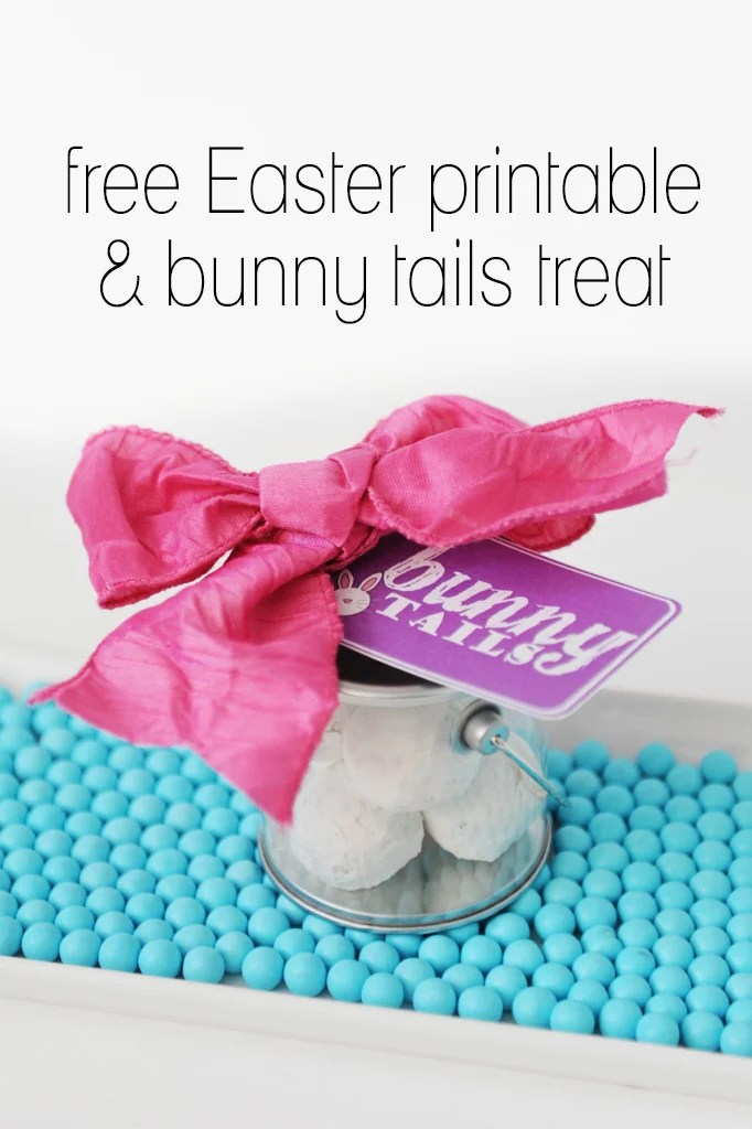 free easter printable and bunny tails treat