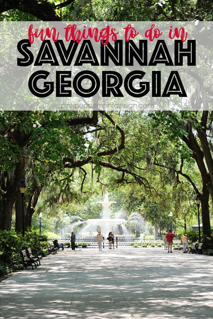 Things to do in savannah georgia