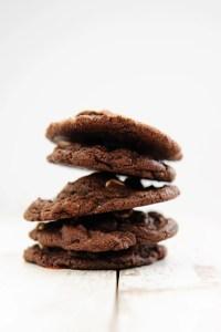 Ooey-Gooey Chocolate Chocolate Chip Cookies