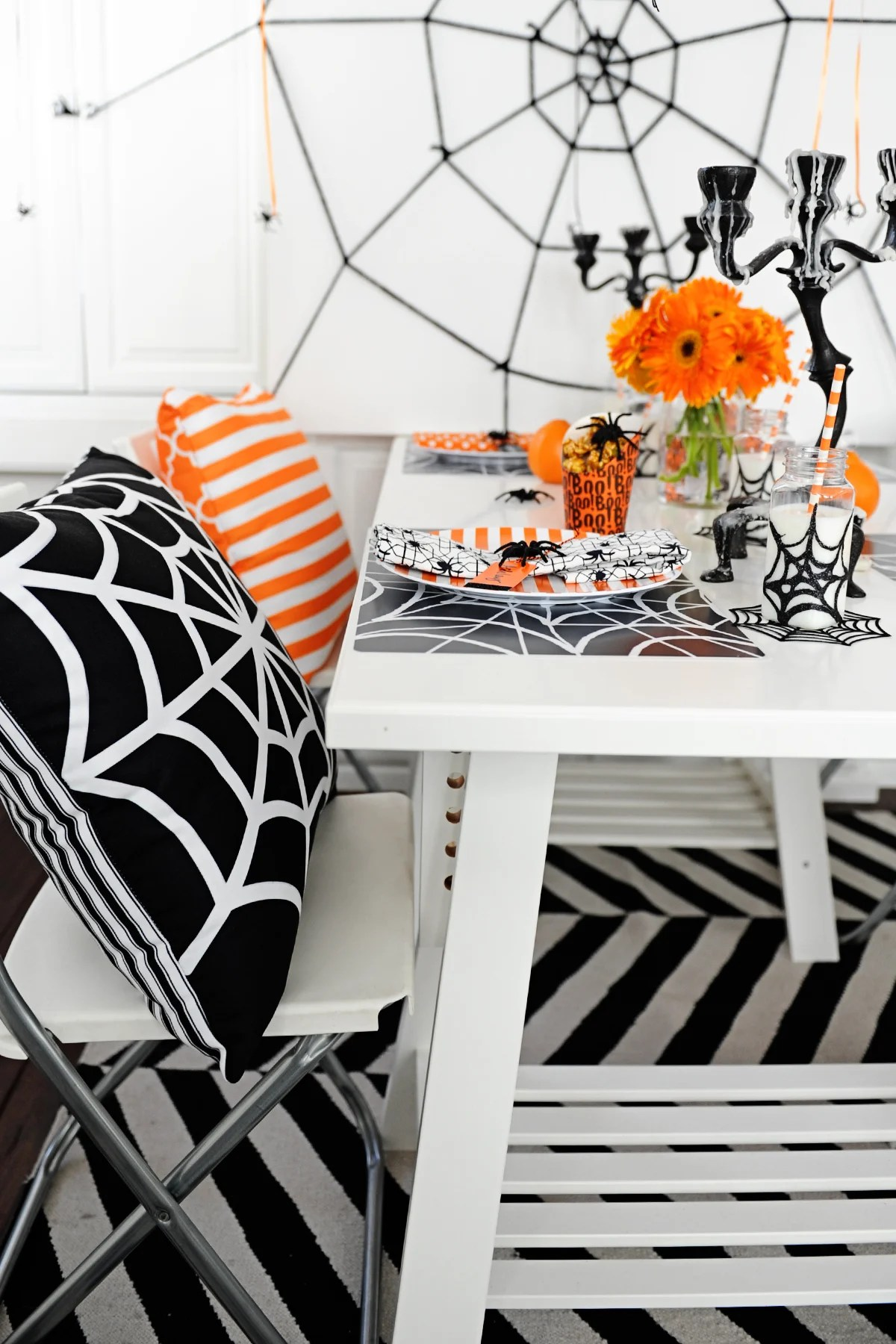 Modern Spider Themed Halloween Party