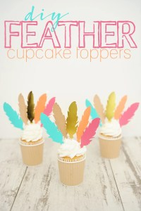 DIY Cupcake Toppers and Feather Party Food Picks