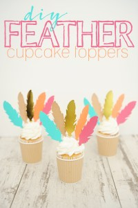 Diy feather cupcake toppers 4 with text