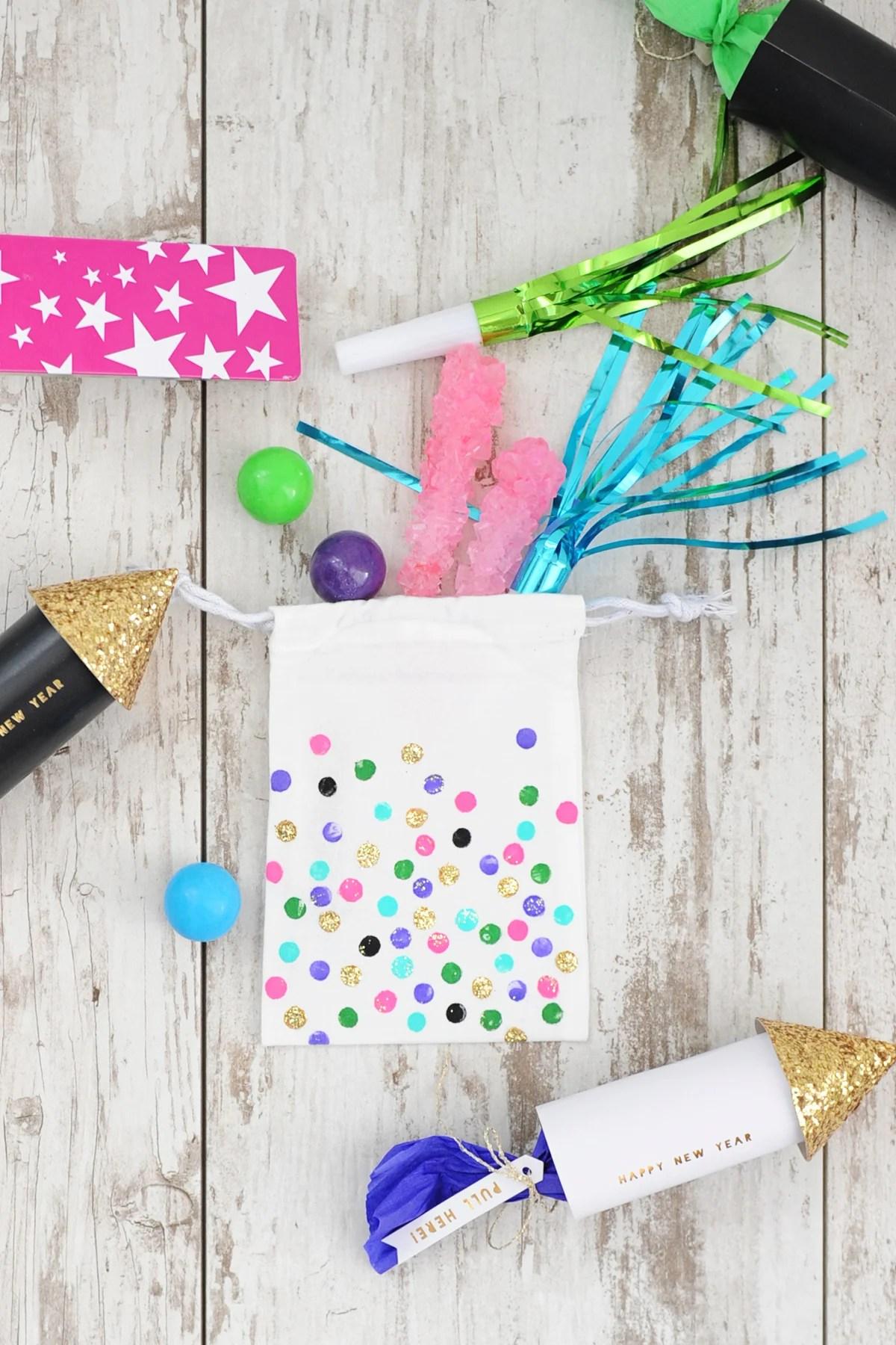 DIY Polka Dot Party Bags