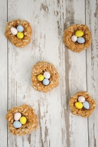 Delicious No-Bake Peanut Butter Coconut Easter Nest Cookies
