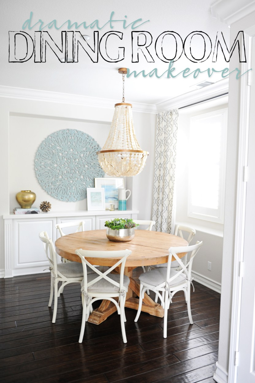 dramatic dining room makeover