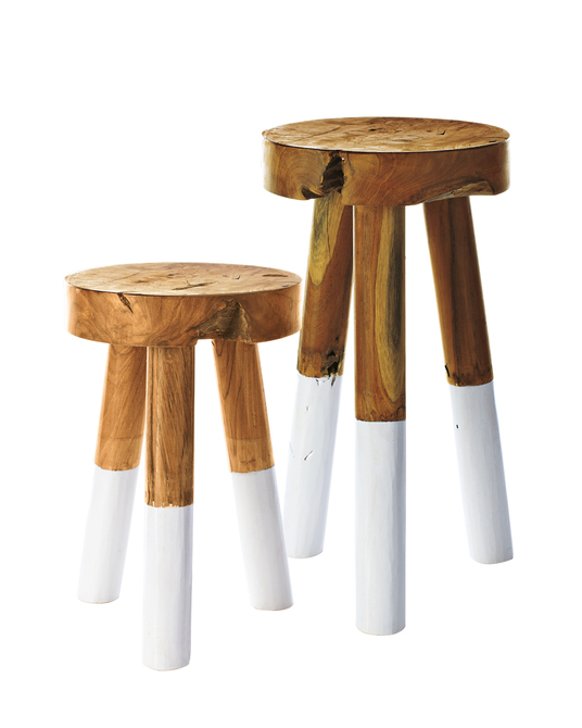 Dip dyed stools