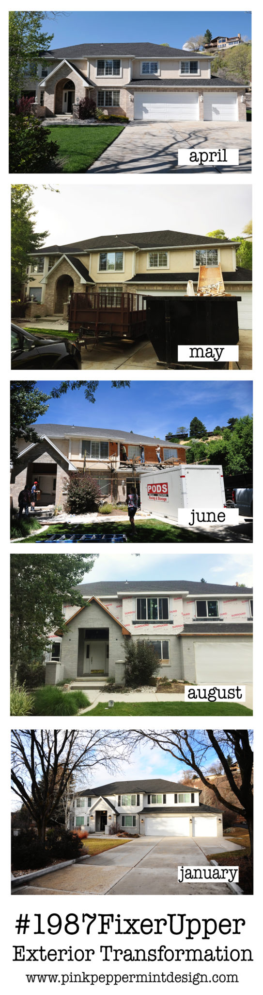 Exterior transformation before and after collage with text 1