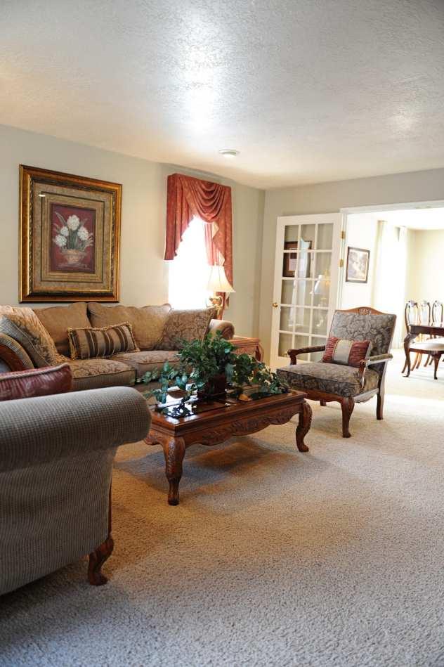 1980s living room remodel