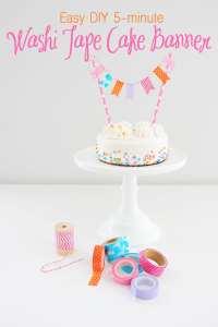 Washi Tape Craft Ideas : Easy DIY Washi Tape Cake Banner