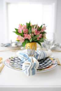 Spring Table Setting Ideas : Blogger Home Tour