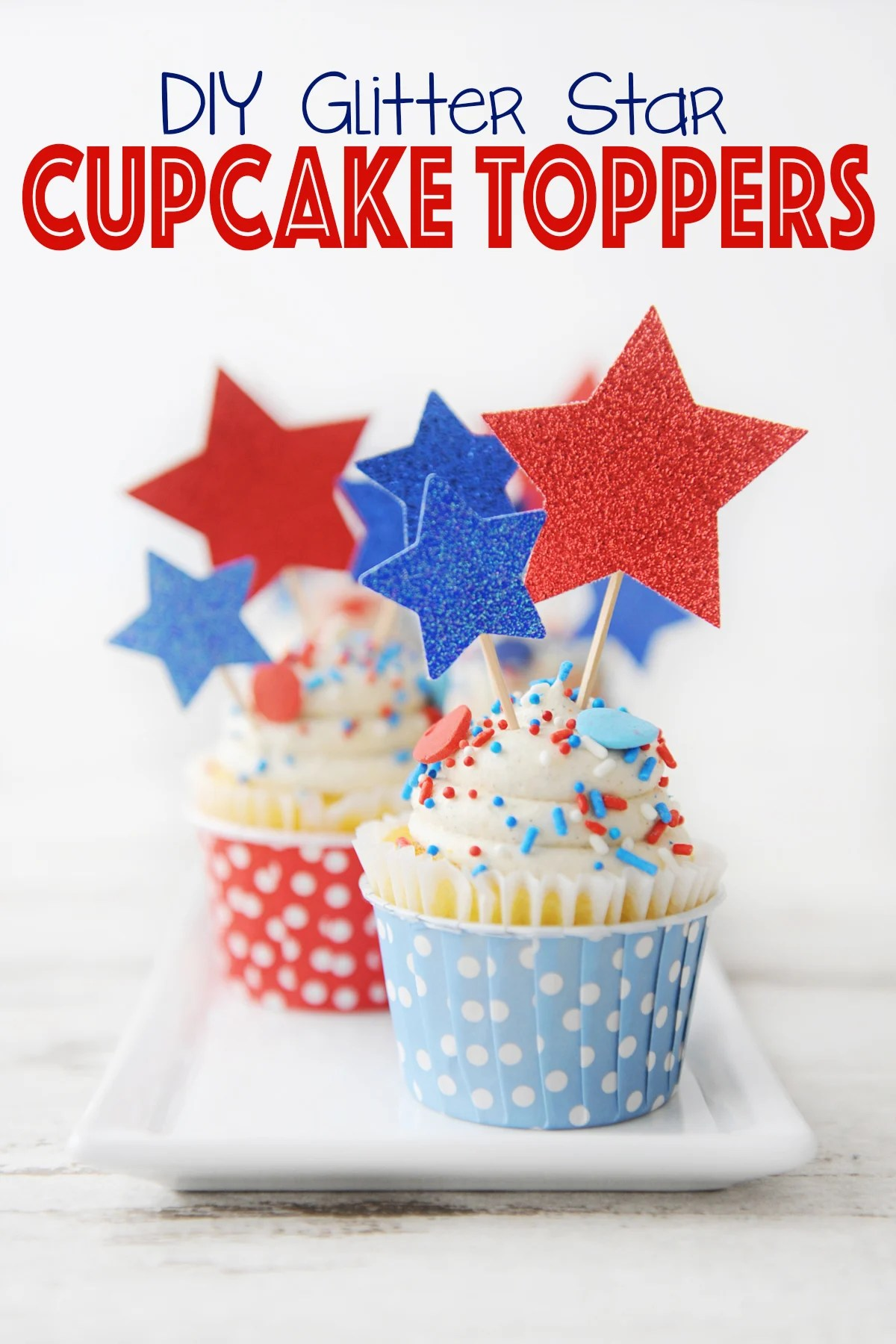 Diy cupcake toppers with toothpicks