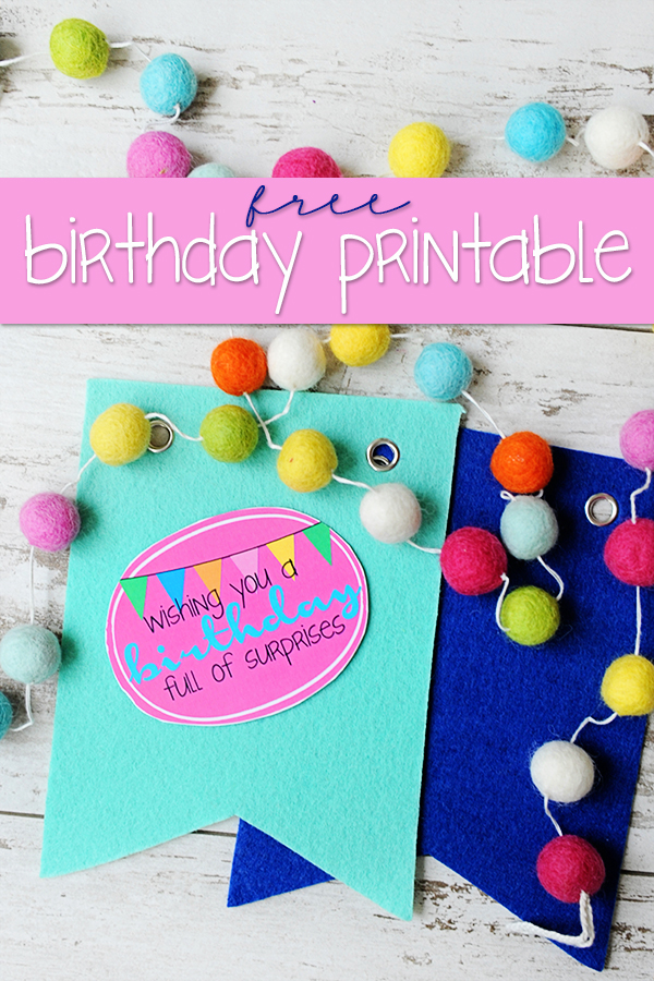 Birthday Wishes Tags : Free Printable Birthday Tags