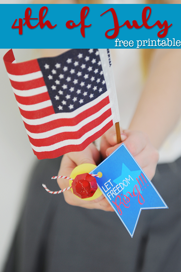 4th of July Party Favors : Free Patriotic Party Printables