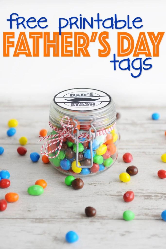 Dads stash printable tags free with text