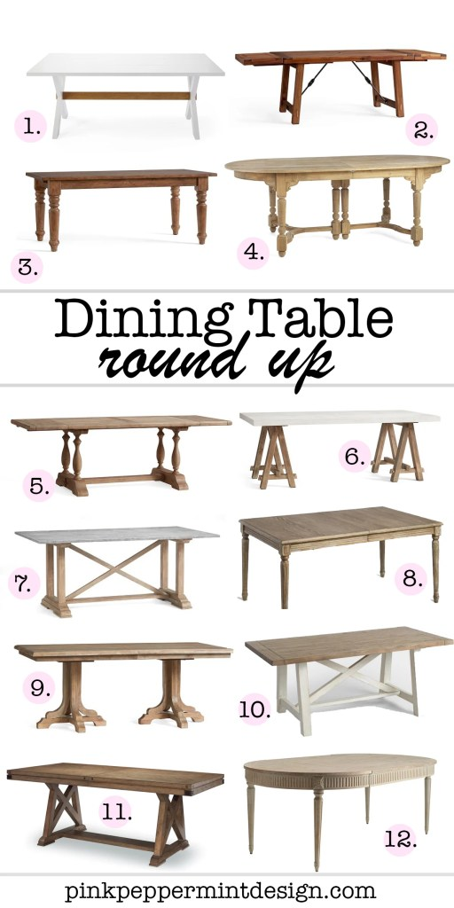 Dining Table Round Up for Every Budget