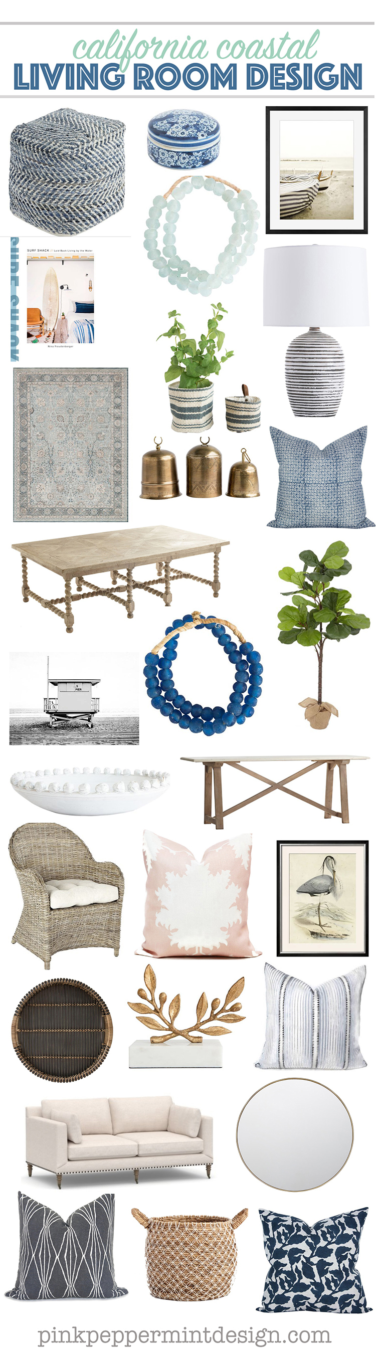 Modern coastal collage