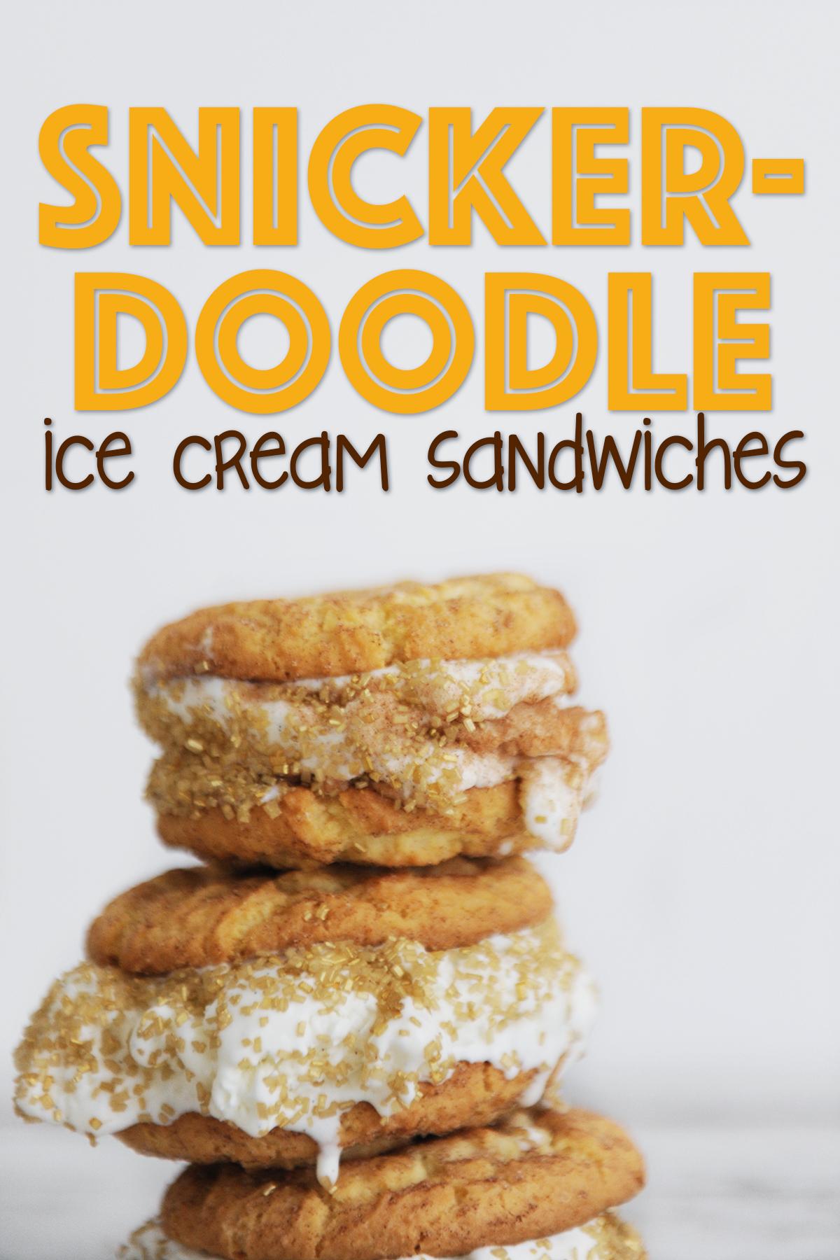 snicker doodle ice cream sandwich recipe