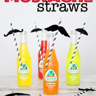 Diy mustache straws 7