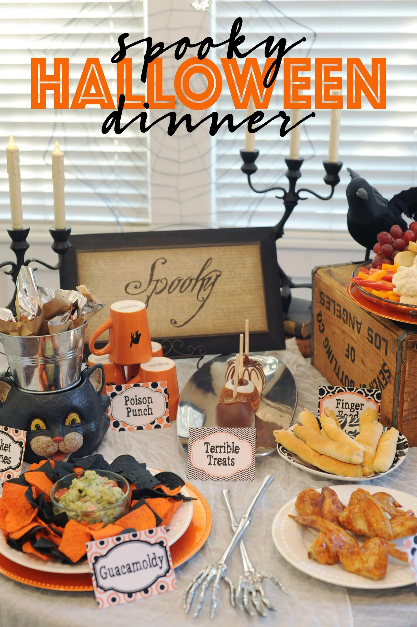 halloween dinner menu ideas
