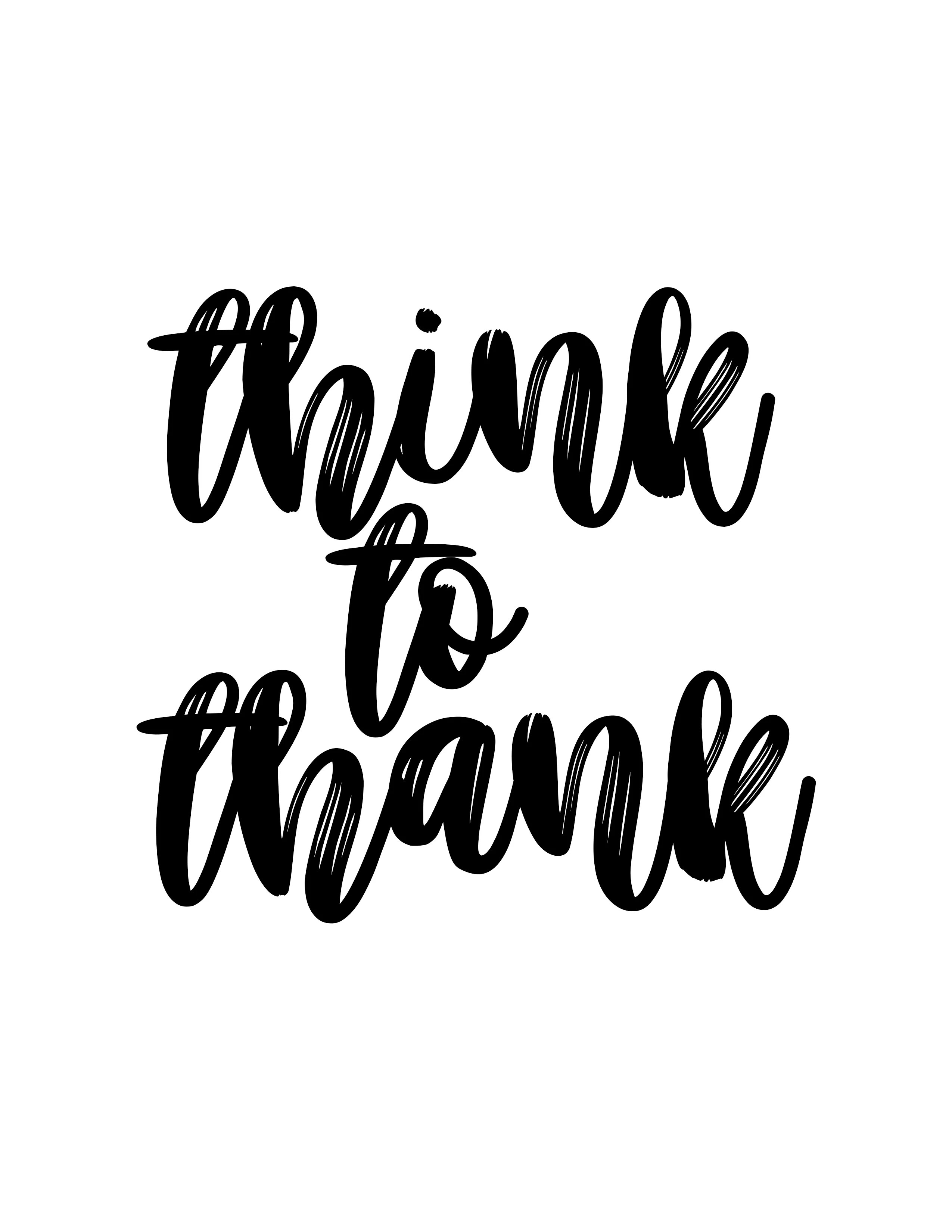 Free Thanksgiving Printable : Think to Thank