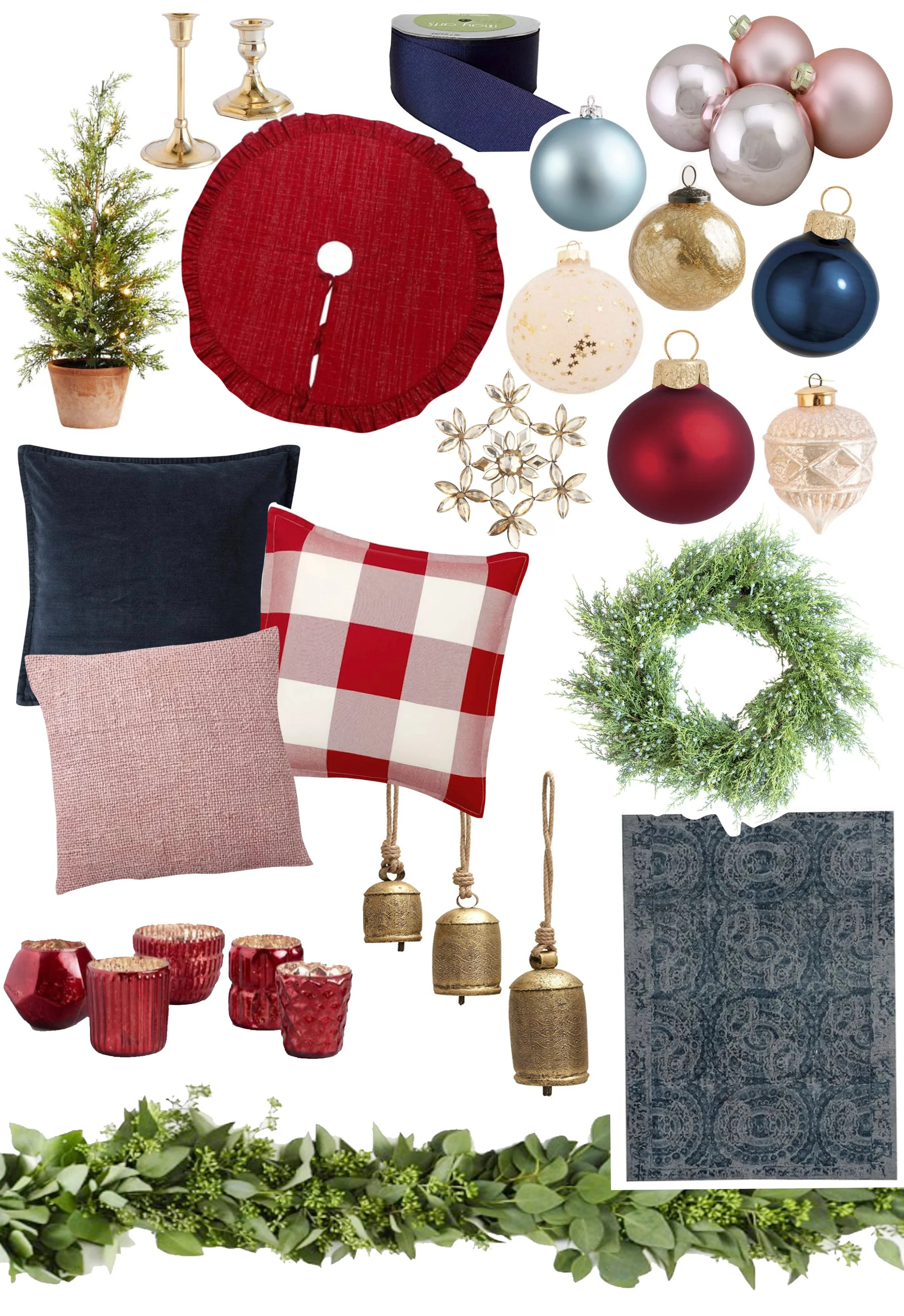 family room Christmas decorating ideas
