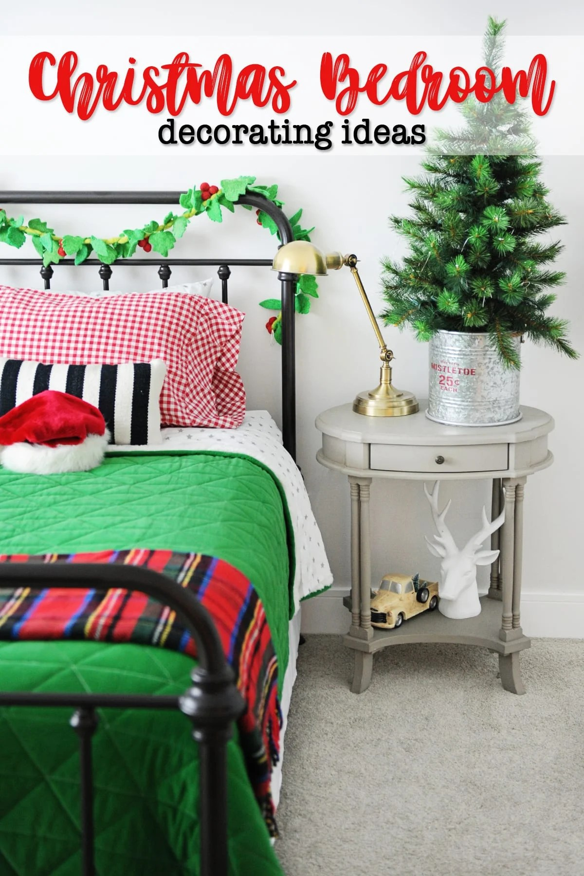 Cute christmas bedroom decorating ideas