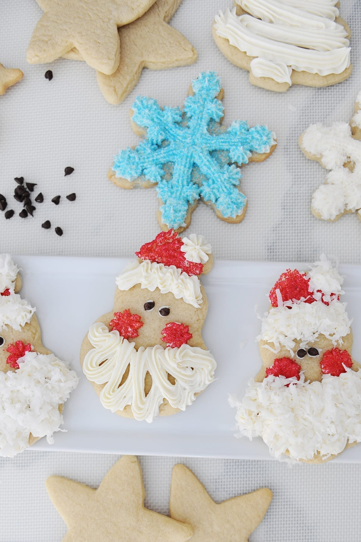 How To Decorate Easy Santa Face Christmas Cookies