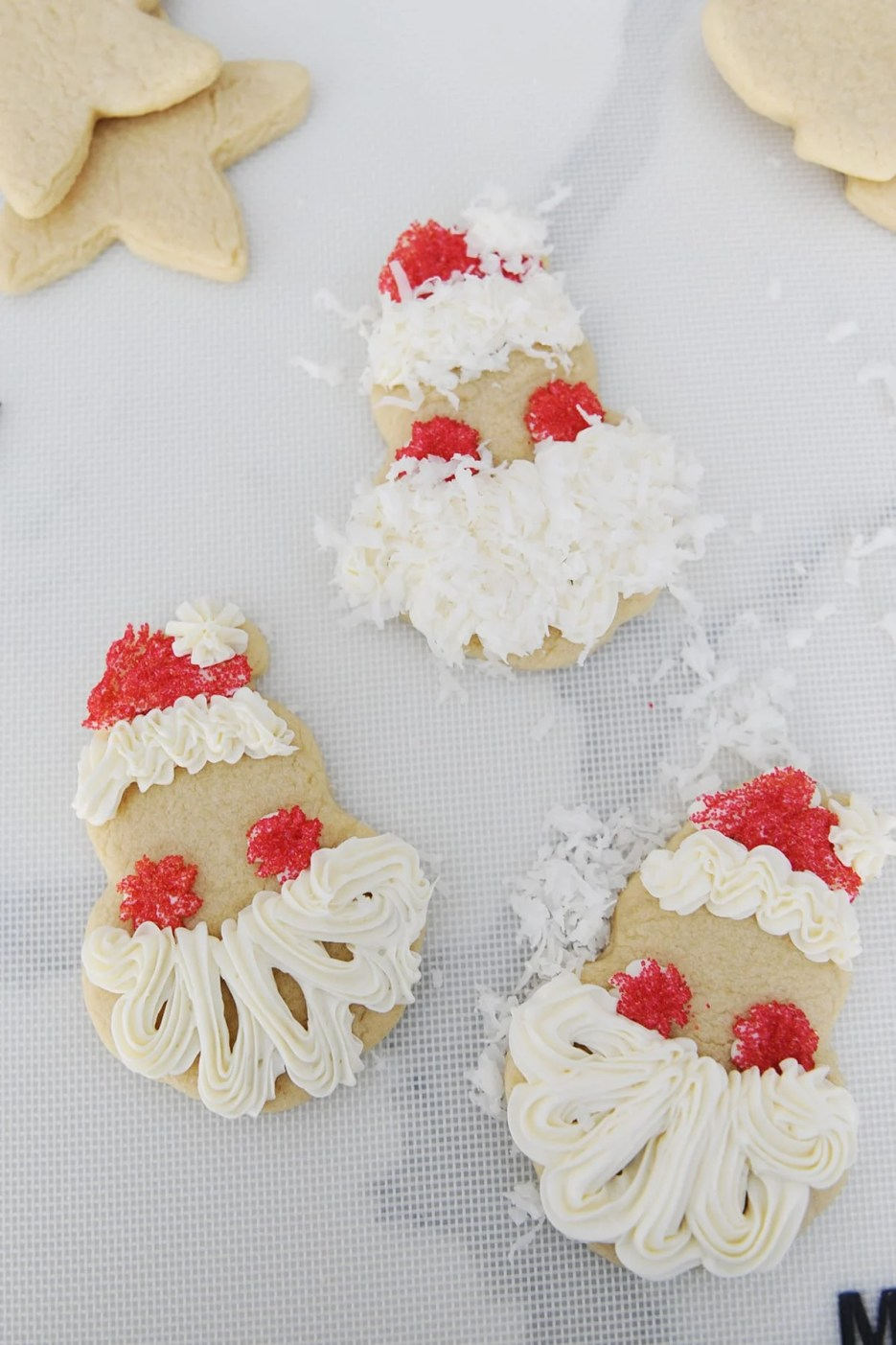 How to make santa cookie cut outs