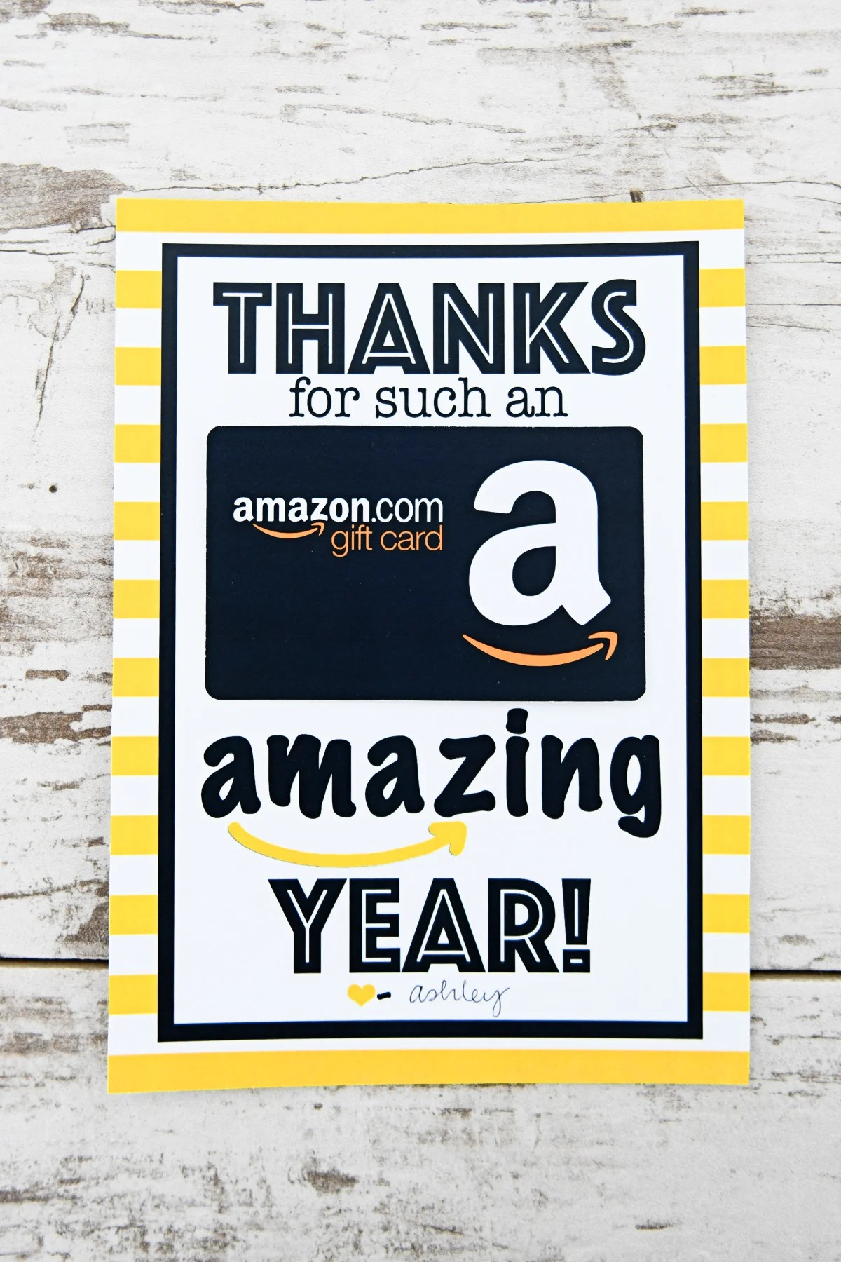 photo about Amazon Gift Card Printable referred to as Absolutely free Instructor Appreciation Printable : Due for an Unbelievable