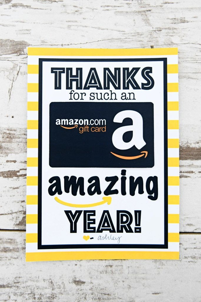 Free Teacher Appreciation Printable : Thanks for an Amazing Year