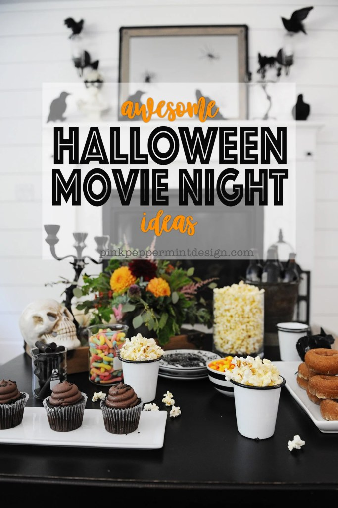 Cute DIY Halloween Movie Night Party Ideas