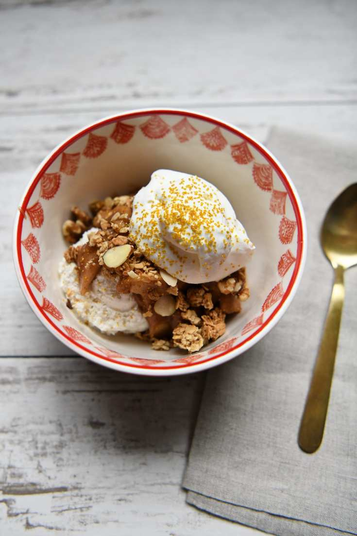 Cinnamon Spiced Apple Strudel Sundae