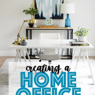 Creating a home office in a pinch