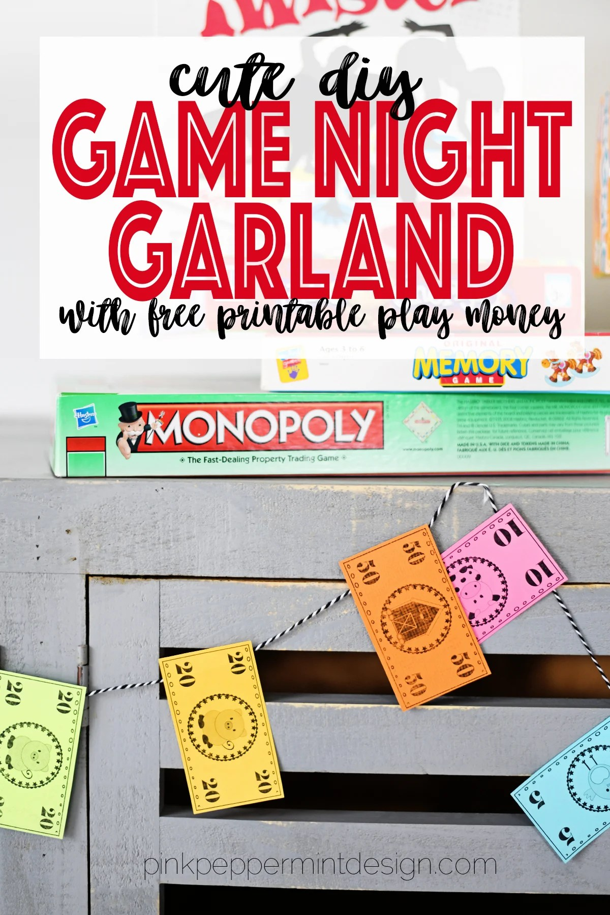 Home and Family Crafts : DIY Garland for Game Night Party