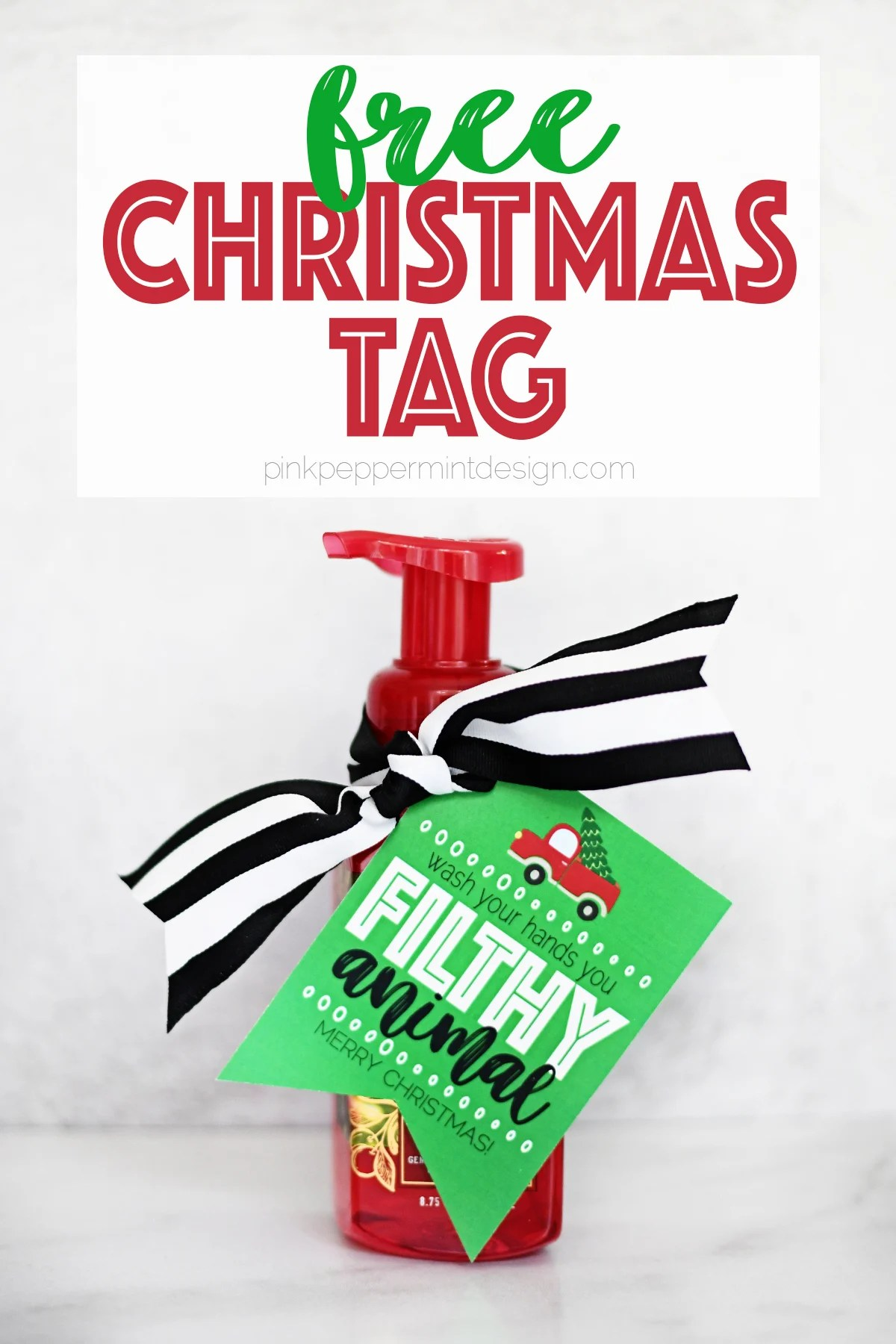 Free Printable Christmas Tags PDF – Home Alone Filthy Animal