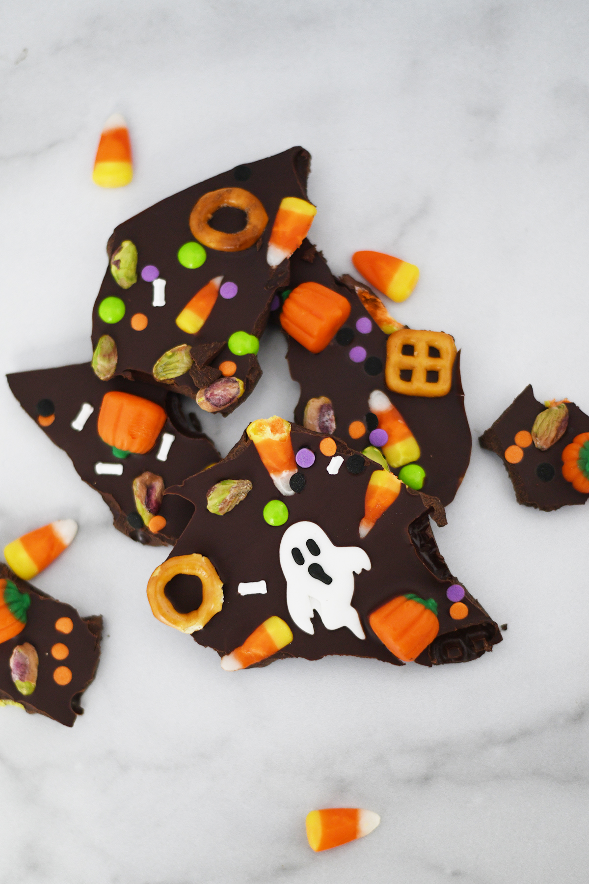 Delicious Chocolate Halloween Bark recipe