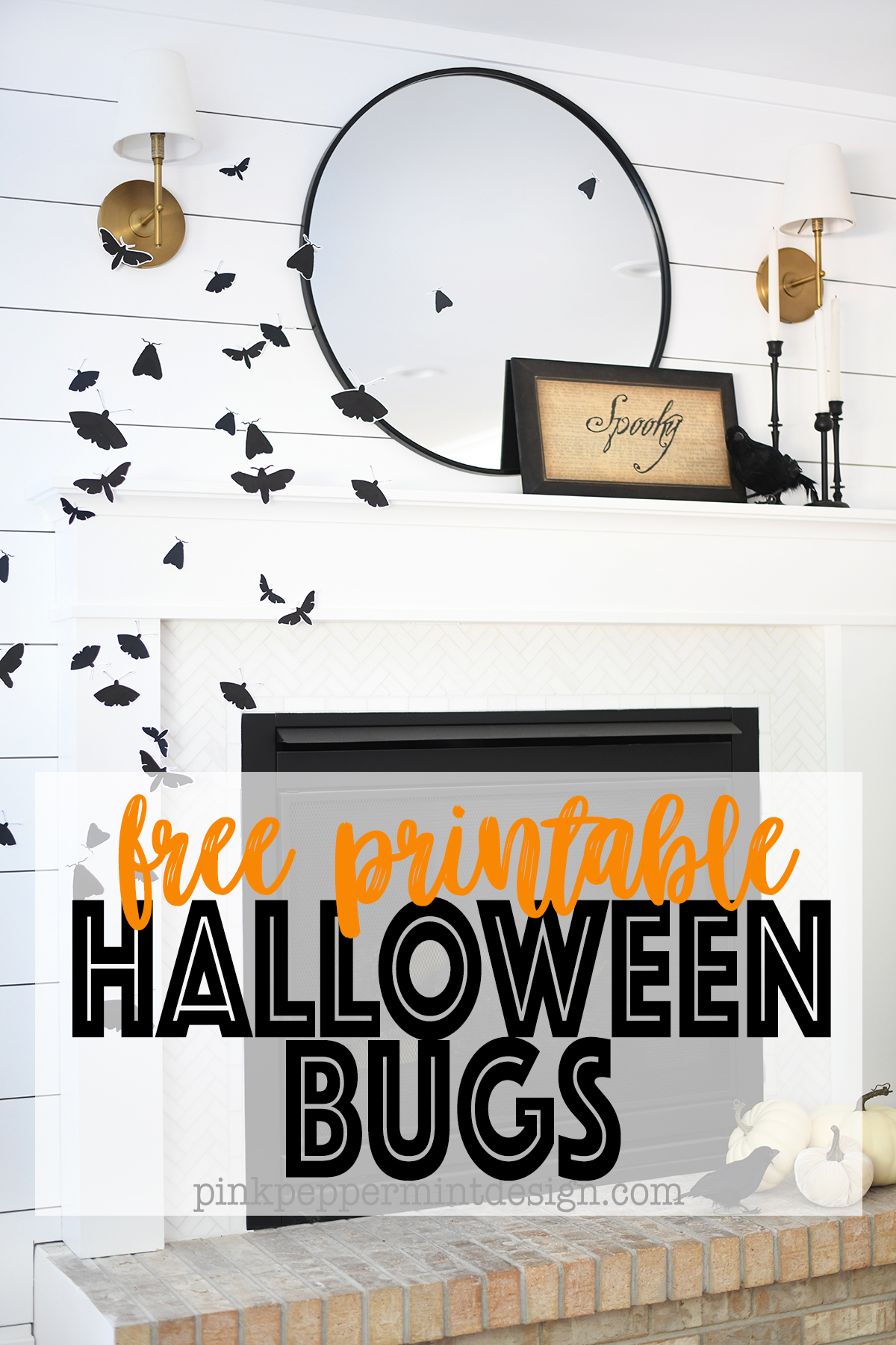 Halloween printable bugs