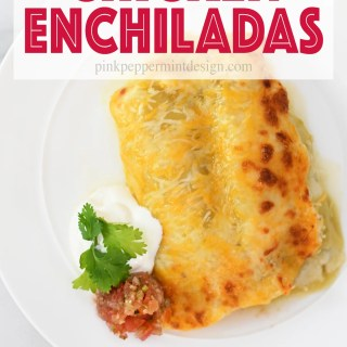 Green chile sour cream chicken enchiladas recipe