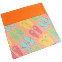 School Chair Bags   Thongs on Orange   Pink Petunias