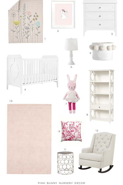 Pink Bunny Nursery Decor Ideas